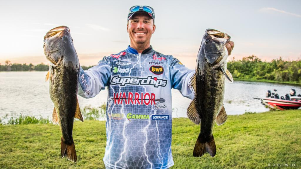 Glenn Browne catches two bass at Bassmaster classic