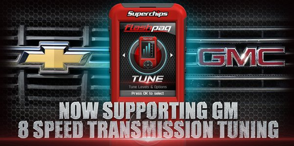 GM 8 Speed Transmission Tuning Now Supported - Superchips