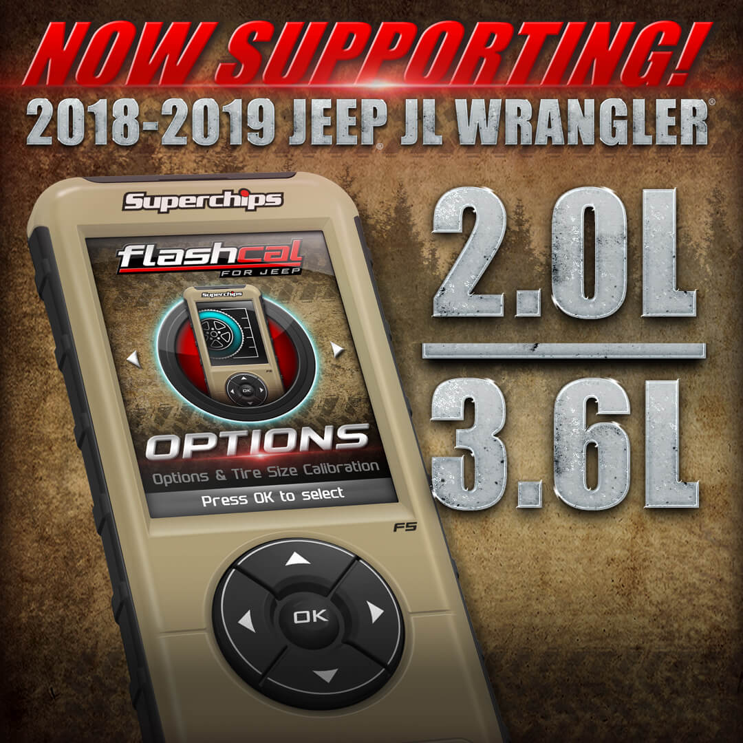 Superchips JL Wrangler & JT Gladiator Flashcal Support Now