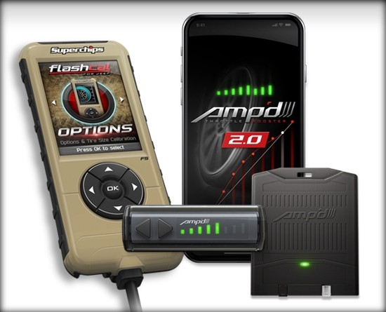 Amp'd 2.0 Throttle Booster + Flashcal for 18-21 Jeep JL