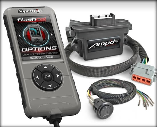 Amp'D Throttle Booster Kit w/ Power Switch + Flashcal for Dodge/RAM
