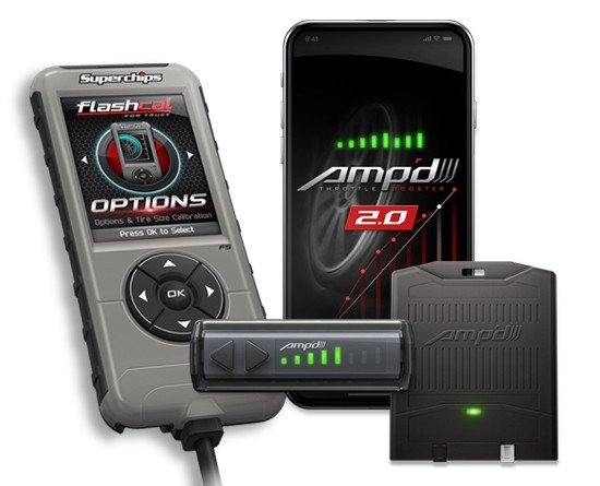 Amp'D 2.0 Throttle Booster + Flashcal for Ford