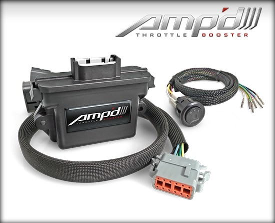 Amp'D Throttle Booster Kit with Power Switch 2011-2019 Ford 6.7L Power Stroke & 3.0L Power Stroke